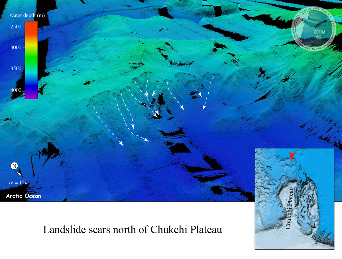 Landslides north of Chukchi