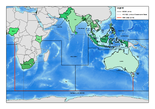 Gebco nippon foundation indian ocean bathymetric compilation map of the indian ocean gumiabroncs Images