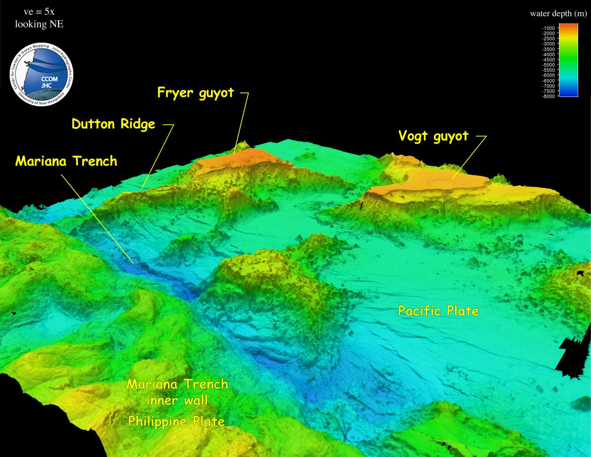 Mariana Images | The Center for Coastal and Ocean Mapping Pacific Ocean Underwater Volcanoes