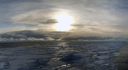 Sunset in the Arctic.