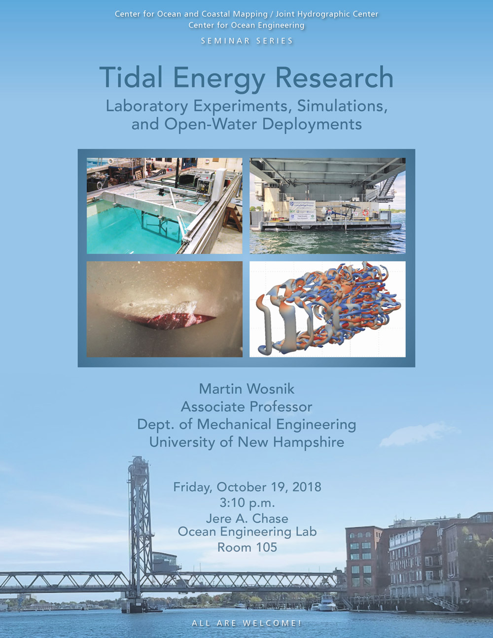 Tidal Energy Research – Laboratory Experiments, Simulations, and