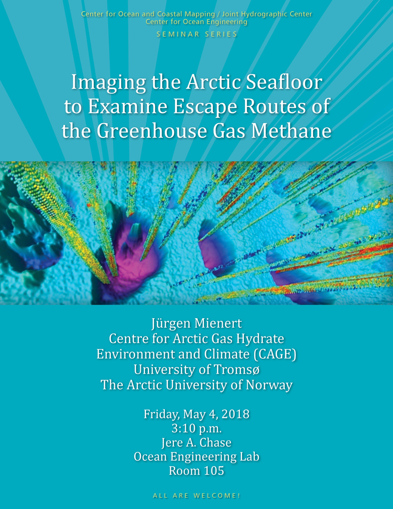 Imaging The Arctic Seafloor To Examine Escape Routes Of The Greenhouse Gas Methane The Center For Coastal And Ocean Mapping