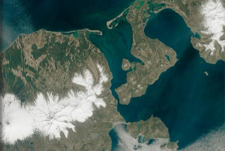 Satellite image of Bechevin Bay.