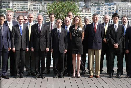 Members of the working group posing fora group photo.