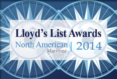 Lloyd's List Awards, North America, Maritime, 2014 with compass roses in the background.