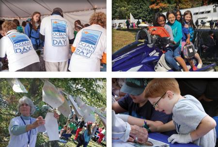 Collage of photos from Ocean Discovery Day