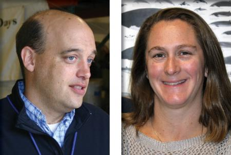 Headshots of Tom Weber and Jen Miksis-Olds