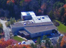 Aerial view of the Jere A. Chase Ocean Engineering Lab. Photo courtesy of Rob Roseen.