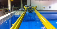 The deep engineering tank at the Chase Ocean Engineering Lab.